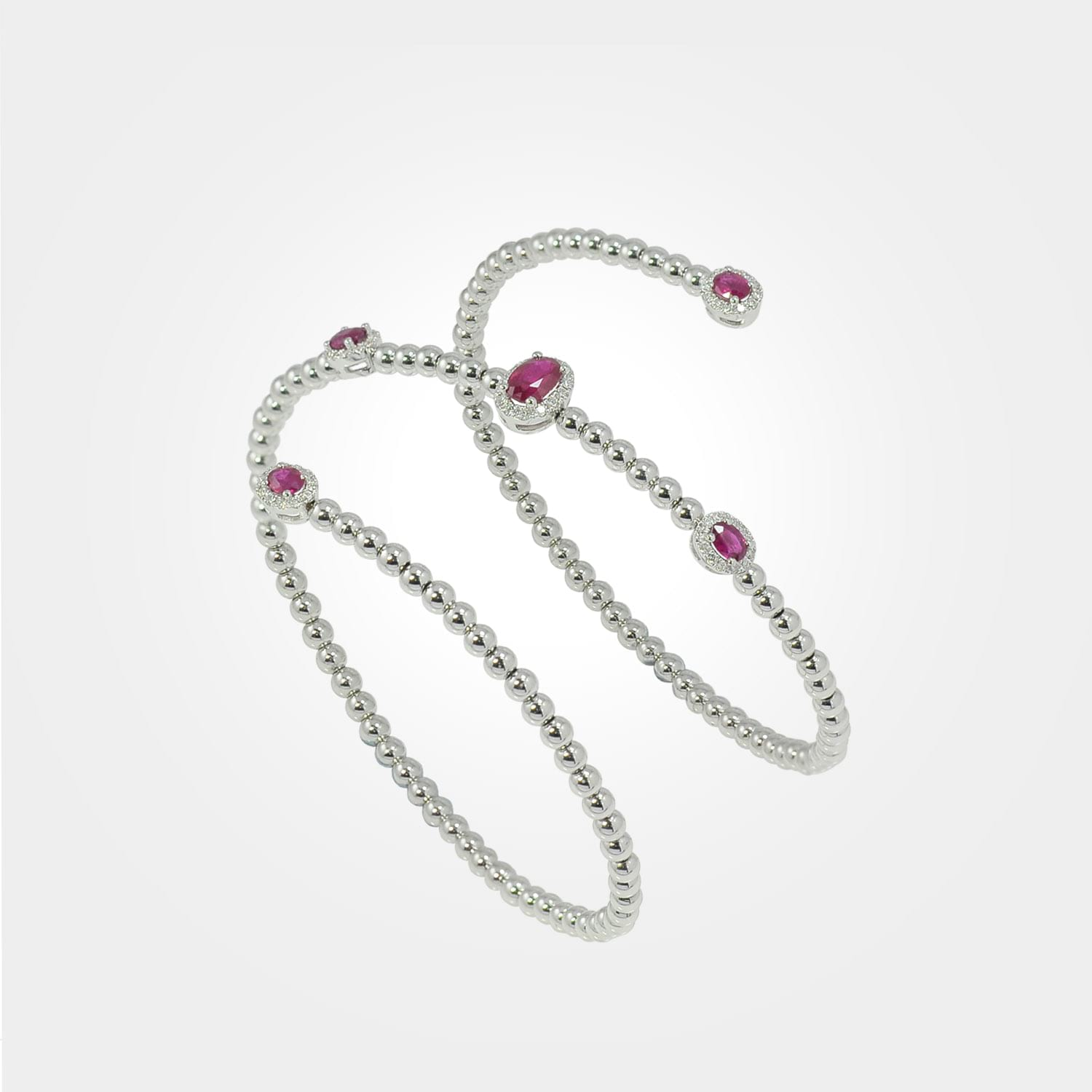 Diamond & Ruby cuff