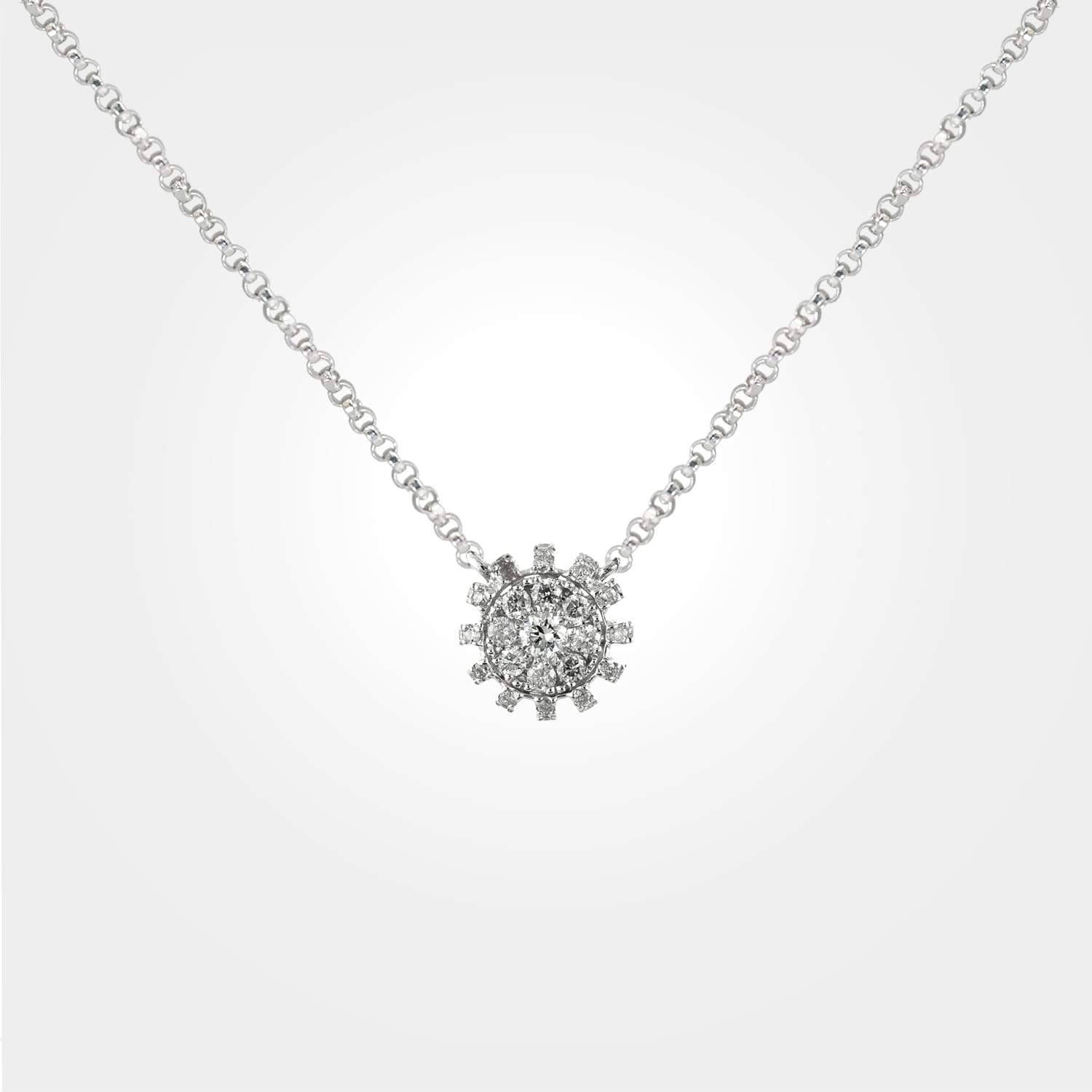 Nature's charm diamond pendant