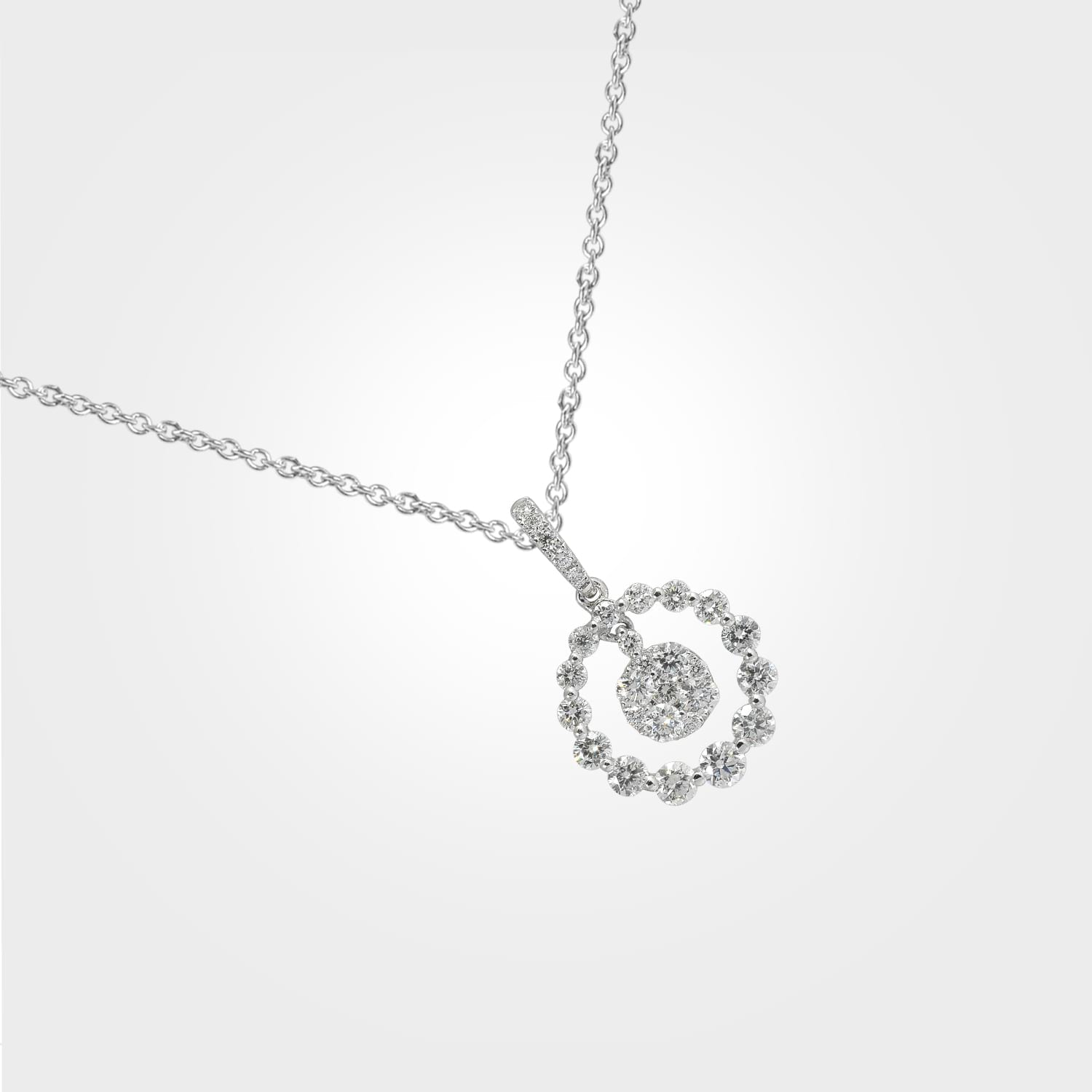 Floral Magic Diamond Pendant