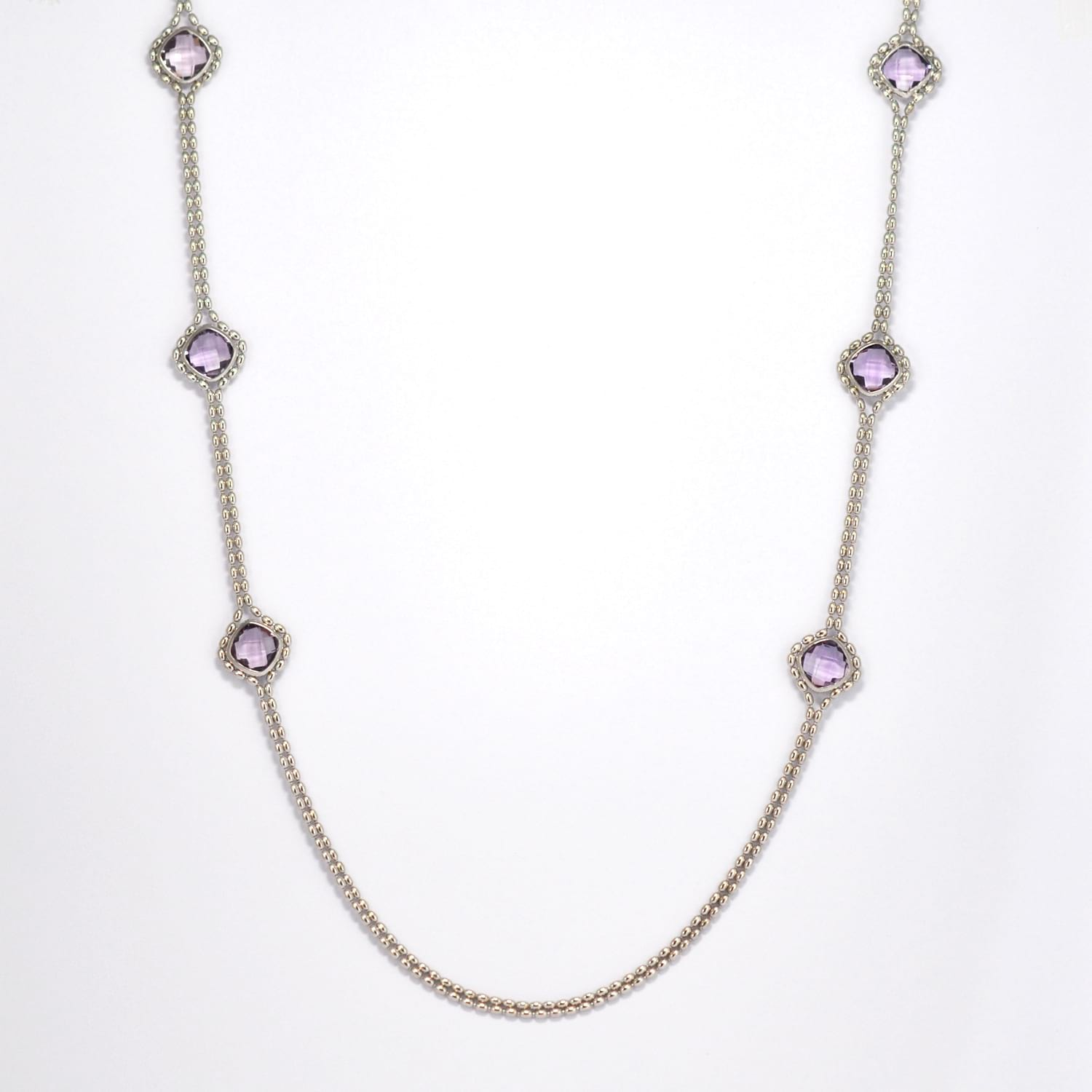Vibrant Amethyst & Silver Necklace
