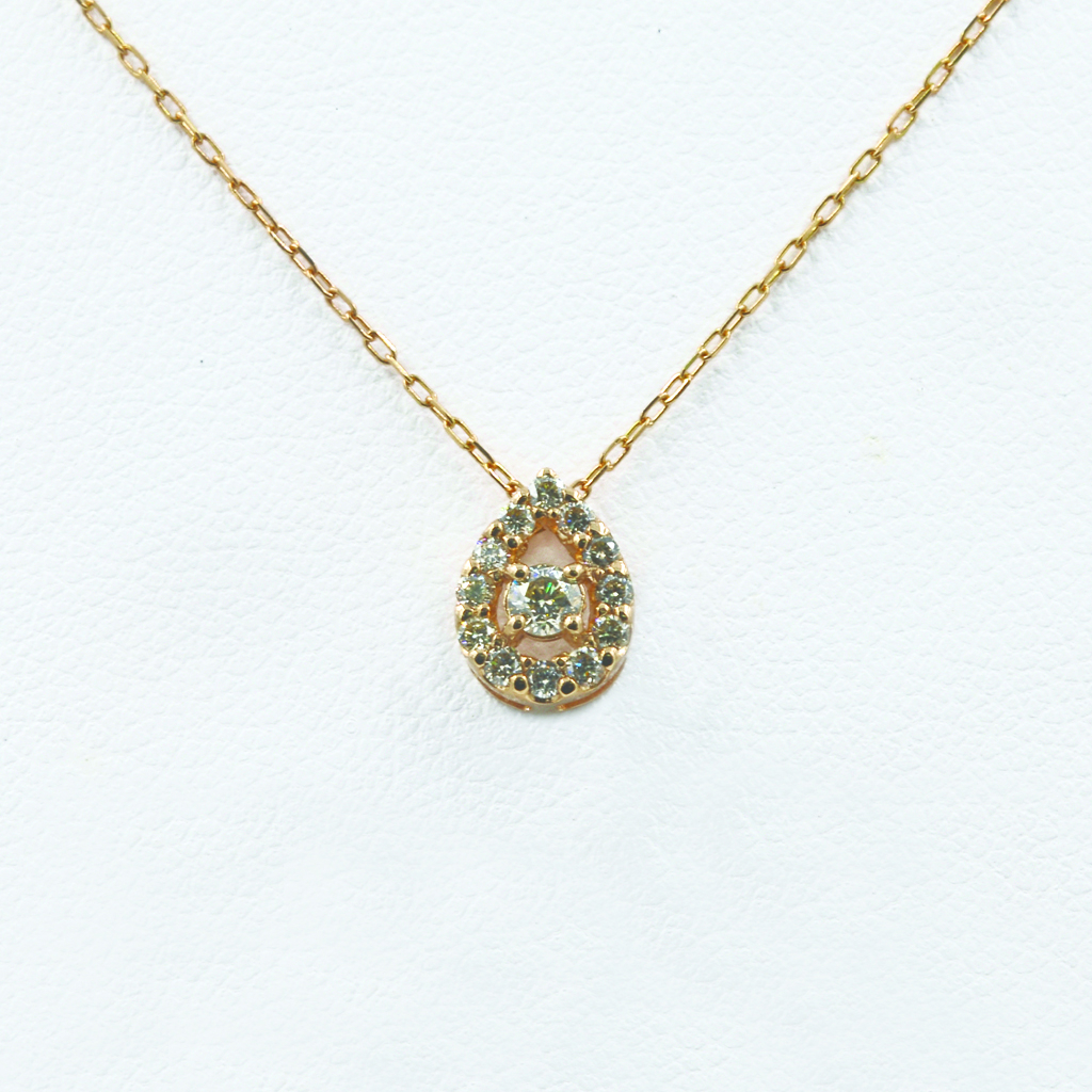 Pear Motif Diamond Necklace
