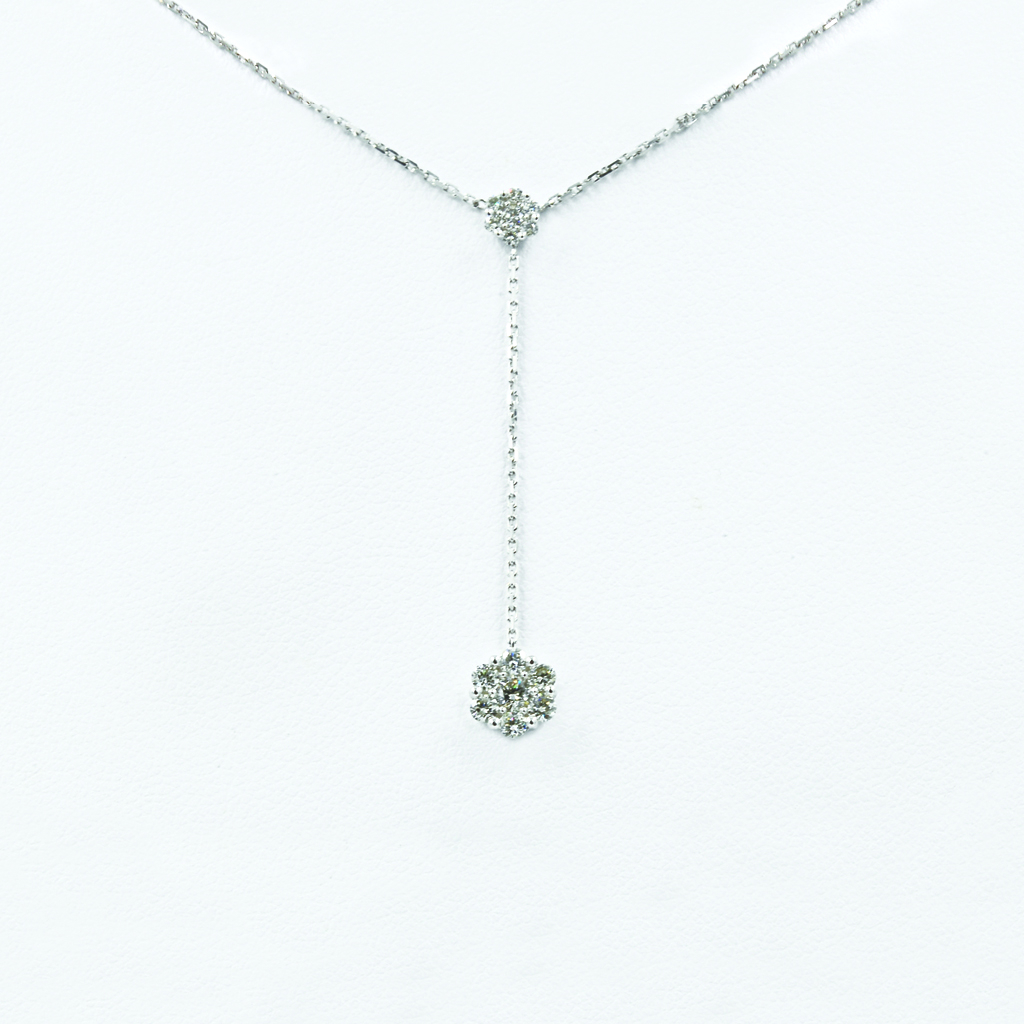 Floral Drop Diamond Necklace